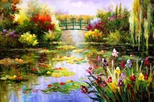 Monet pintaba con colores difusos, porque sufría de cataratas. Sus pinturas nos acerca a quienes no sufrimos la enfermedad, a la manera en que ven quienes la tienen.